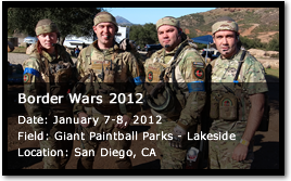 Bad Karma at Border Wars 2012 - Date: January 7-8, 2012 - Giant Paintball Parks - Lakeside - San Diego, CA